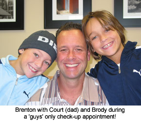 satisfied patients brenton with family